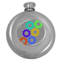 Gear Transmission Options Settings Round Hip Flask (5 Oz) by Nexatart