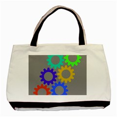 Gear Transmission Options Settings Basic Tote Bag (two Sides)