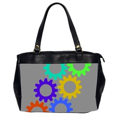 Gear Transmission Options Settings Office Handbags (2 Sides)