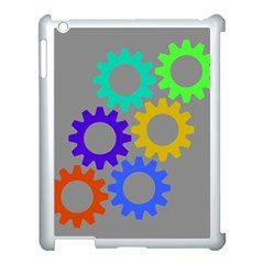Gear Transmission Options Settings Apple Ipad 3/4 Case (white) by Nexatart