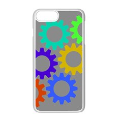 Gear Transmission Options Settings Apple Iphone 7 Plus White Seamless Case