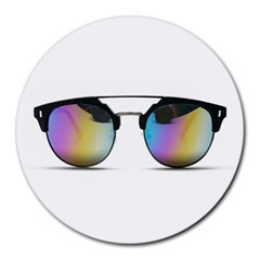 Sunglasses Shades Eyewear Round Mousepads