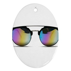 Sunglasses Shades Eyewear Ornament (oval)