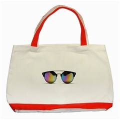 Sunglasses Shades Eyewear Classic Tote Bag (red)