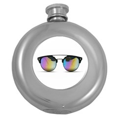 Sunglasses Shades Eyewear Round Hip Flask (5 Oz)