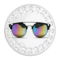 Sunglasses Shades Eyewear Ornament (round Filigree) by Nexatart