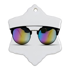 Sunglasses Shades Eyewear Snowflake Ornament (two Sides)