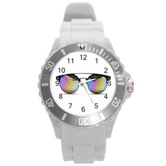 Sunglasses Shades Eyewear Round Plastic Sport Watch (l) by Nexatart