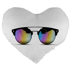 Sunglasses Shades Eyewear Large 19  Premium Flano Heart Shape Cushions
