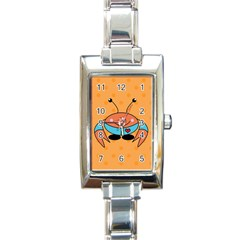 Crab Sea Ocean Animal Design Rectangle Italian Charm Watch by Nexatart