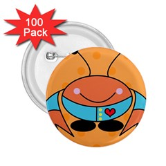 Crab Sea Ocean Animal Design 2 25  Buttons (100 Pack)