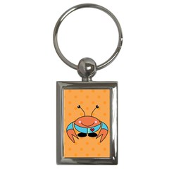Crab Sea Ocean Animal Design Key Chains (rectangle)