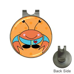 Crab Sea Ocean Animal Design Hat Clips With Golf Markers