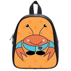 Crab Sea Ocean Animal Design School Bag (small)