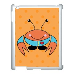 Crab Sea Ocean Animal Design Apple Ipad 3/4 Case (white) by Nexatart