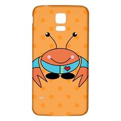 Crab Sea Ocean Animal Design Samsung Galaxy S5 Back Case (white)