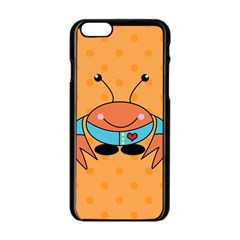 Crab Sea Ocean Animal Design Apple Iphone 6/6s Black Enamel Case