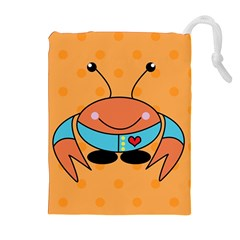 Crab Sea Ocean Animal Design Drawstring Pouches (extra Large)