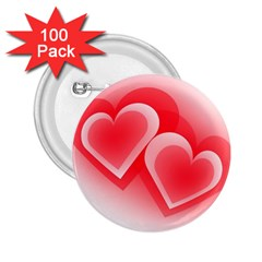 Heart Love Romantic Art Abstract 2 25  Buttons (100 Pack)