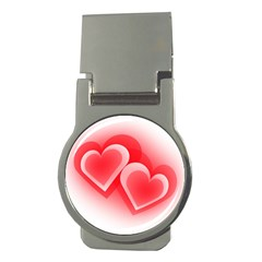Heart Love Romantic Art Abstract Money Clips (round)  by Nexatart