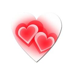 Heart Love Romantic Art Abstract Heart Magnet by Nexatart