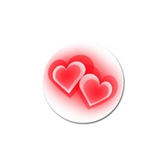 Heart Love Romantic Art Abstract Golf Ball Marker (4 Pack)