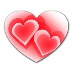 Heart Love Romantic Art Abstract Heart Mousepads