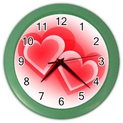 Heart Love Romantic Art Abstract Color Wall Clocks