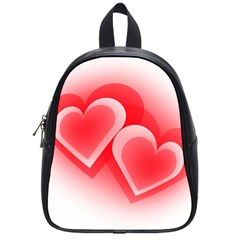 Heart Love Romantic Art Abstract School Bag (small) by Nexatart