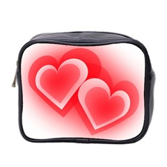 Heart Love Romantic Art Abstract Mini Toiletries Bag 2 Side