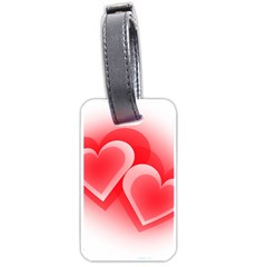 Heart Love Romantic Art Abstract Luggage Tags (one Side)