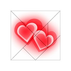 Heart Love Romantic Art Abstract Acrylic Tangram Puzzle (4  X 4 )