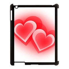 Heart Love Romantic Art Abstract Apple Ipad 3/4 Case (black) by Nexatart
