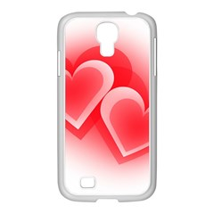 Heart Love Romantic Art Abstract Samsung Galaxy S4 I9500/ I9505 Case (white)