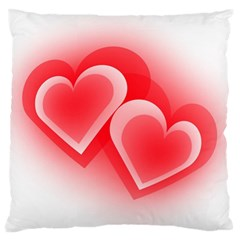 Heart Love Romantic Art Abstract Large Flano Cushion Case (two Sides) by Nexatart