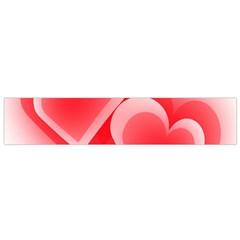 Heart Love Romantic Art Abstract Flano Scarf (small)