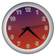 Course Colorful Pattern Abstract Wall Clocks (silver)