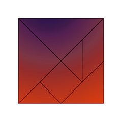 Course Colorful Pattern Abstract Acrylic Tangram Puzzle (4  X 4 )
