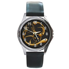 Gold Dog Cat Animal Jewel Dor¨| Round Metal Watch