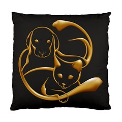Gold Dog Cat Animal Jewel Dor¨| Standard Cushion Case (two Sides) by Nexatart
