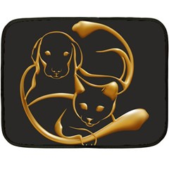 Gold Dog Cat Animal Jewel Dor¨| Double Sided Fleece Blanket (mini)  by Nexatart