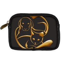 Gold Dog Cat Animal Jewel Dor¨| Digital Camera Cases by Nexatart