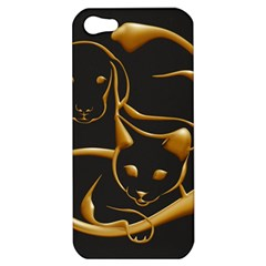 Gold Dog Cat Animal Jewel Dor¨| Apple Iphone 5 Hardshell Case