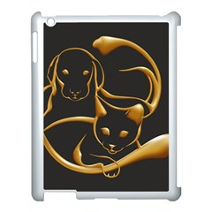Gold Dog Cat Animal Jewel Dor¨| Apple Ipad 3/4 Case (white)
