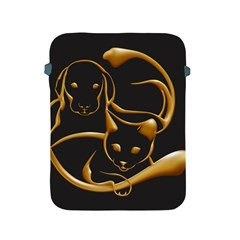 Gold Dog Cat Animal Jewel Dor¨| Apple Ipad 2/3/4 Protective Soft Cases