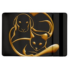 Gold Dog Cat Animal Jewel Dor¨| Ipad Air Flip by Nexatart