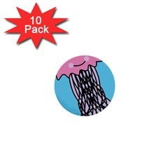 Jellyfish Cute Illustration Cartoon 1  Mini Buttons (10 Pack)