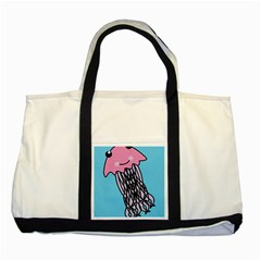 Jellyfish Cute Illustration Cartoon Two Tone Tote Bag