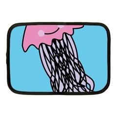 Jellyfish Cute Illustration Cartoon Netbook Case (medium)