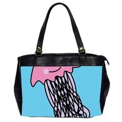 Jellyfish Cute Illustration Cartoon Office Handbags (2 Sides)  by Nexatart